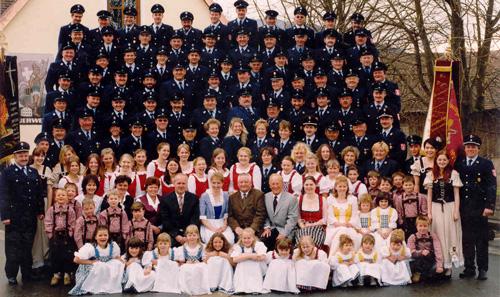 Feuerwehr Schwarzenberg mit Festgefolge
