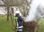 Brand-Komposthaufen-Schnellangriff