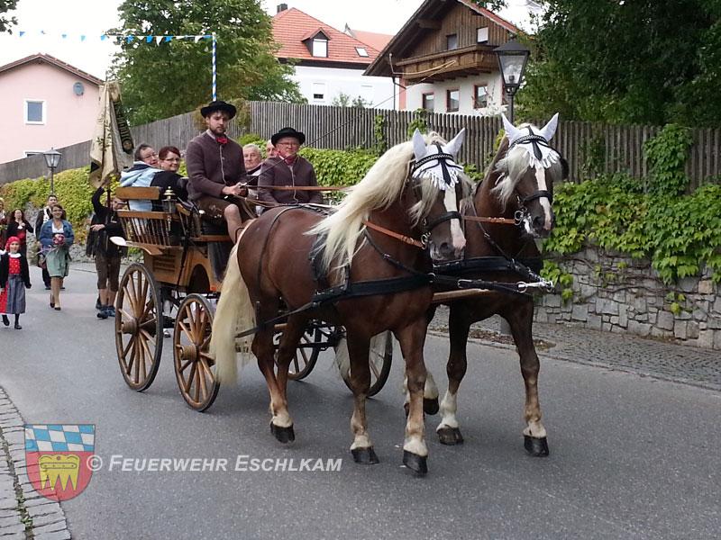 Oktoberfest-Pferdegespann