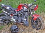 Demoliertes-Motorrad