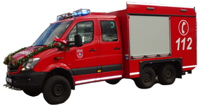 Die Feuerwehr Schwarzenberg ist mit einem Tragkraftspritzenfahrzeug Logisik ausgestattet.