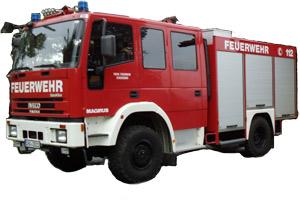 Das Löschgruppenfahrzeug LF 8/6 der Feuerwehr Stachesried