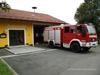 Einsatzbereit vor dem Feuerwehrhaus
