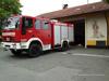 Heiliger Florian am Feuerwehrhaus Stachesried