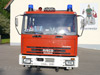 Frontansicht des Feuerwehrautos