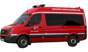Das Mehrzweckfahrzeug (MZF) der Feuerwehr Eschlkam ist  ein Allrounder für den Einsatzalltag.