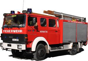 Das Löschgruppenfahrzeug LF 16/12 ergänzt bei Bedarf das TLF 16/25 oder ist als selbstständige Einheit flexibel zur Erledigung von Einsätzen bestimmt.