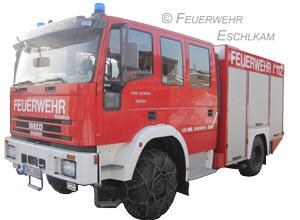 Das Löschgruppenfahrzeug LF 8/6 der Feuerwehr Großaign.