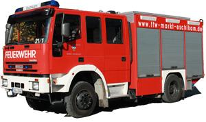 Es gibt große und kleine Feuerwehrautos.