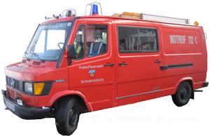Das Tragkraftspritzenfahrzeug TSF ist bei der Feuerwehr Schwarzenberg stationiert.