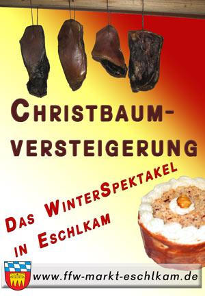 Herzliche Einladung zur Christbaumversteigerung in Eschlkam!