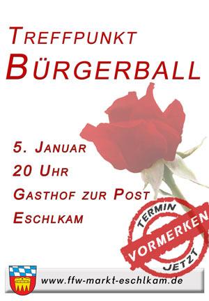 Herzlich Willkommen zum Bürgerball in Eschlkam!