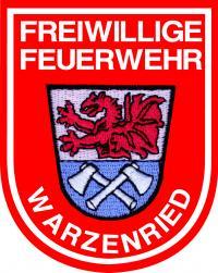 Das Ärmelabzeichen der Feuerwehr Warzenried