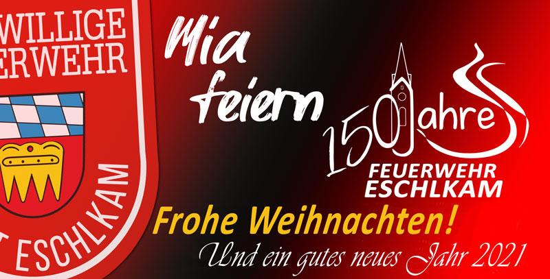 Frohe und gesegnete Weihnachten wünscht die Feuerwehr Eschlkam!