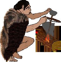 Feuermachen in der Steinzeit