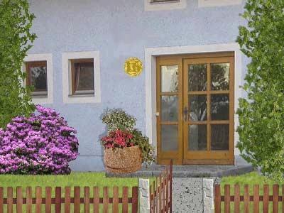 Eine künstlerisch gestaltete Hausnummer ist deutlich schlechter zu erkennen.
